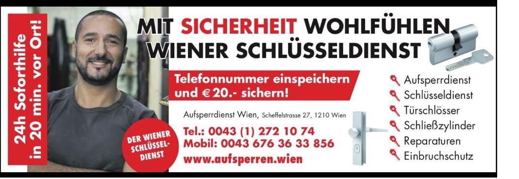 Wiener Schlüsseldienst für Einbruchschutz