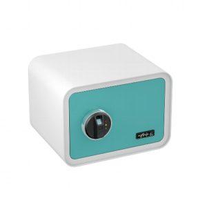 Tresor mit Fingerabdruck - mySafe 350 - Blau-weiß